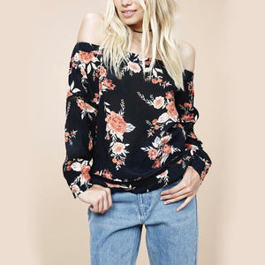 minkpink - wallflower off shoulder top - multi