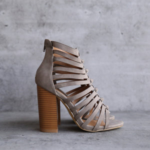 final sale - natasha strappy vegan heel sandal