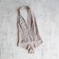 scalloped floral lace bodysuit - more colors