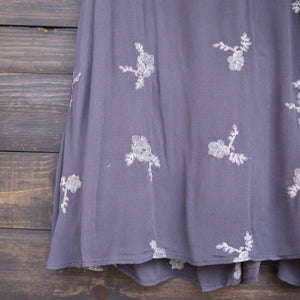 embroidered flowy dress - more colors