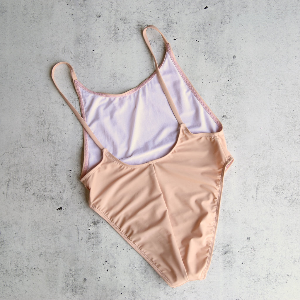 Take A dIp High Cut One Piece Swimsuit in Blush