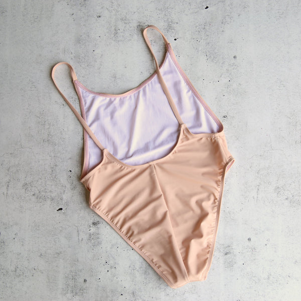 take a dip high-cut one piece swimsuit in blush