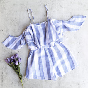 Paper Hearts - Havana Nights Striped Romper in More Colors