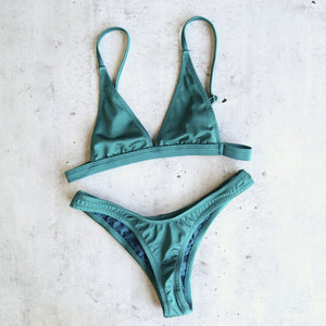 final sale - lana x scarlette metallic bikini separates - more colors