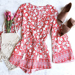 reverse - lola romper - red/floral
