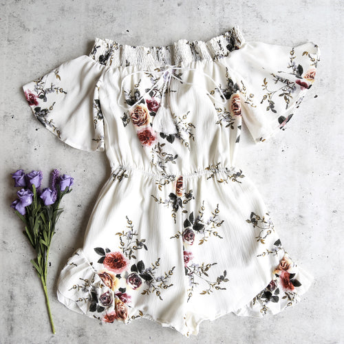 running late floral romper
