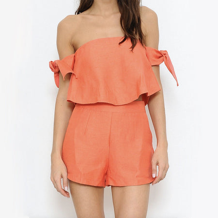 let's mauve it ruffle romper