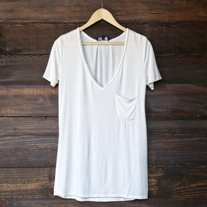 tease me oversize soft v neck tshirt (more colors) - shophearts - 1