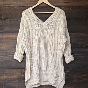 oversize cross back knit sweater - marle natural - shophearts - 2