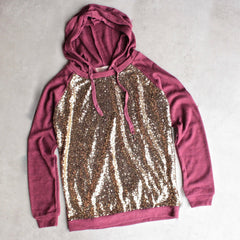 all dolled up sequin hoodie - shophearts - 1