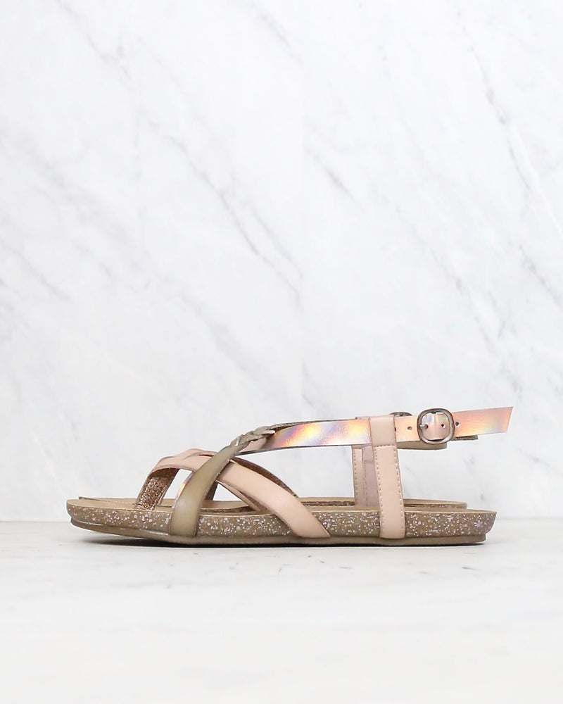 Blowfish - women's granola-b fisherman sandal - Blonde/Pearl Rosegold/Blush Dye Cut