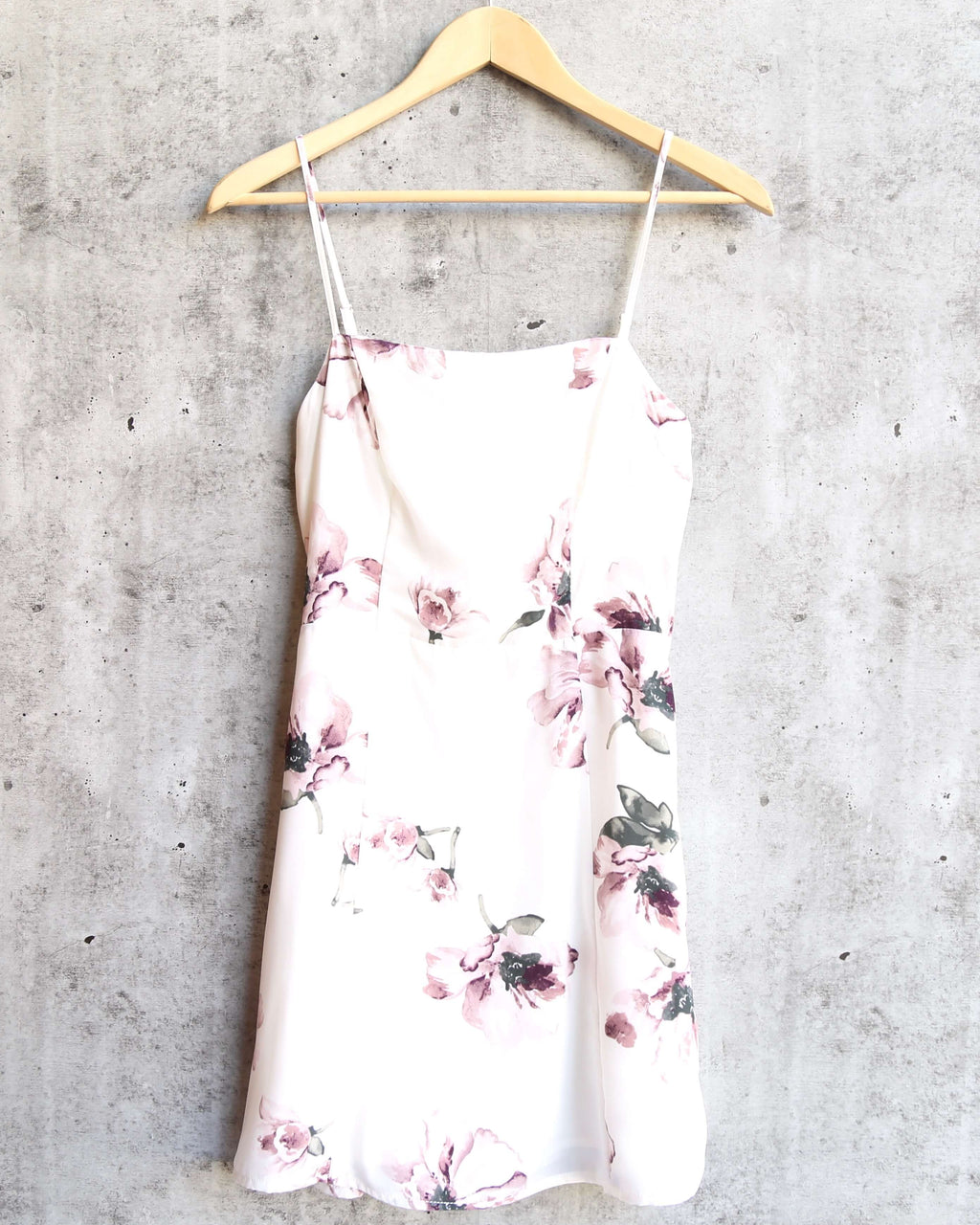 Honey Punch - Floral Mini Dress in White