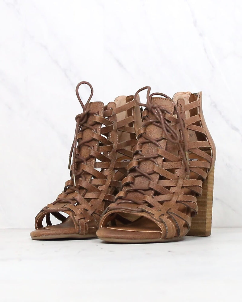 not rated - jacey heeled sandal - tan