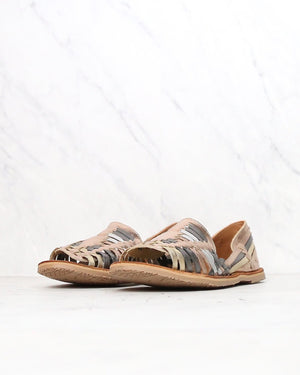 Sbicca - Jared Open Toe Huarache Women's Flats in Rose Gold/Multi