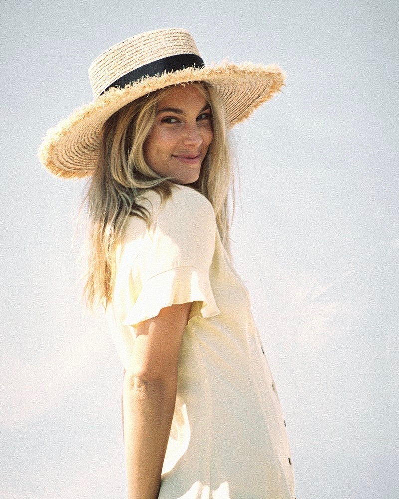 lack of color - the ventura natural straw boater hat
