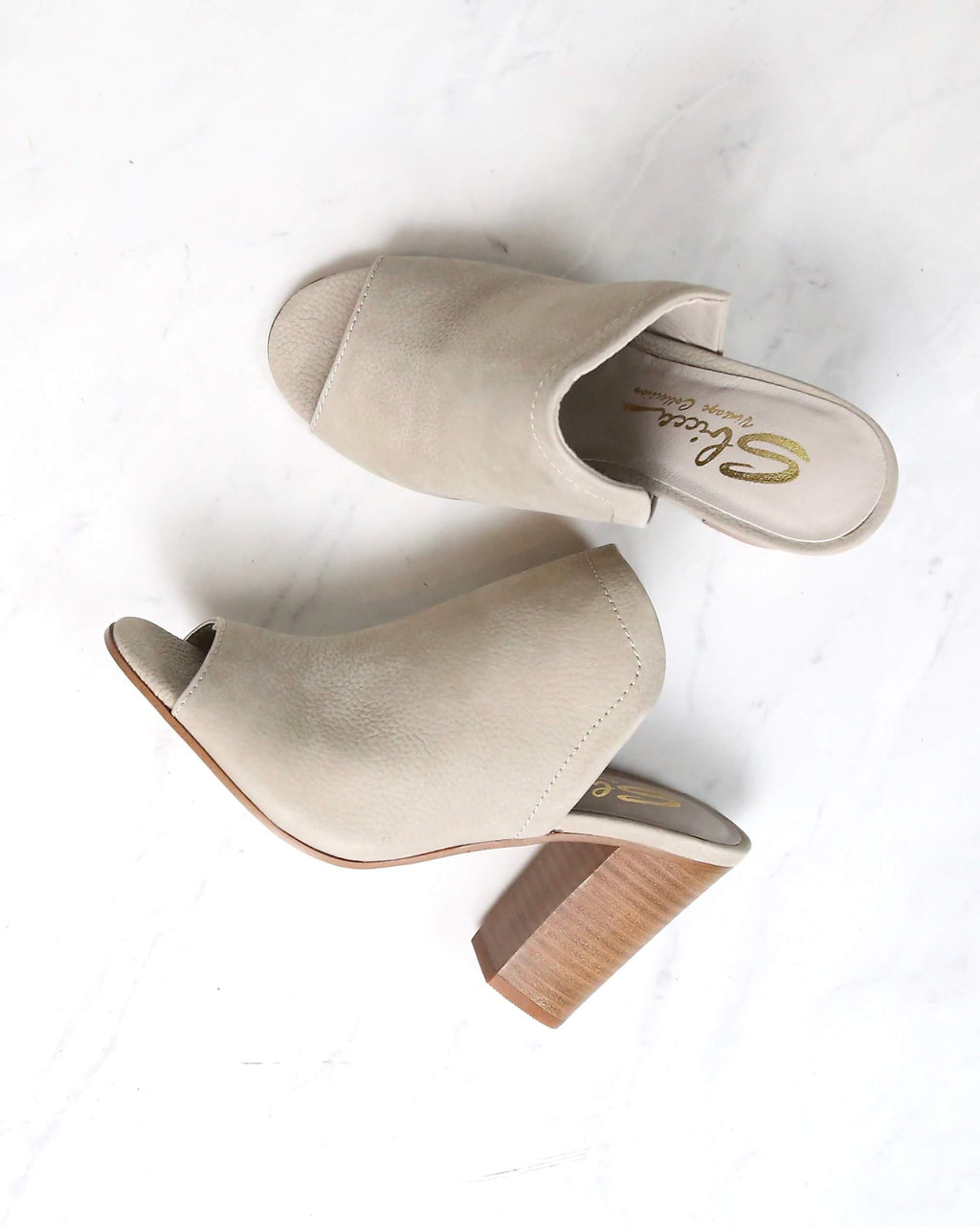 Sbicca - Lova Block-Heel Mules in Grey