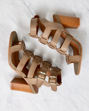 Final Sale - On The Go Double Buckle Sandal in Taupe