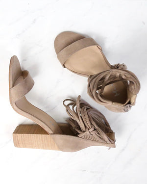miracle miles Mi.iM - suede it my way chic heel sandals - taupe