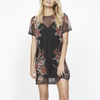 Final Sale - MINKPINK - Wallflower Mesh Layered Mini Dress in Black