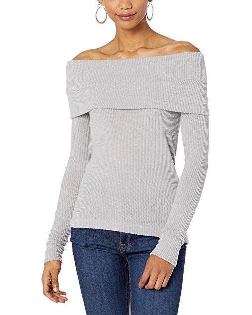 Free People - Snowbunny Off The Shoulder Top in Grey