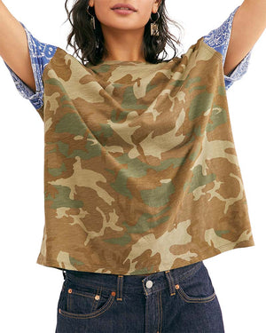 Free People - Clarity Tee in Army