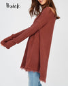 Oversized Thermal Sweater with Cold Shoulder in More Colors