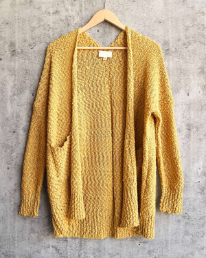 popcorn yarn lightweight open front cardigan - more colors