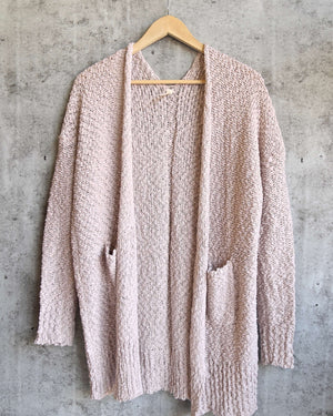 open-front long-line cardigan - twig