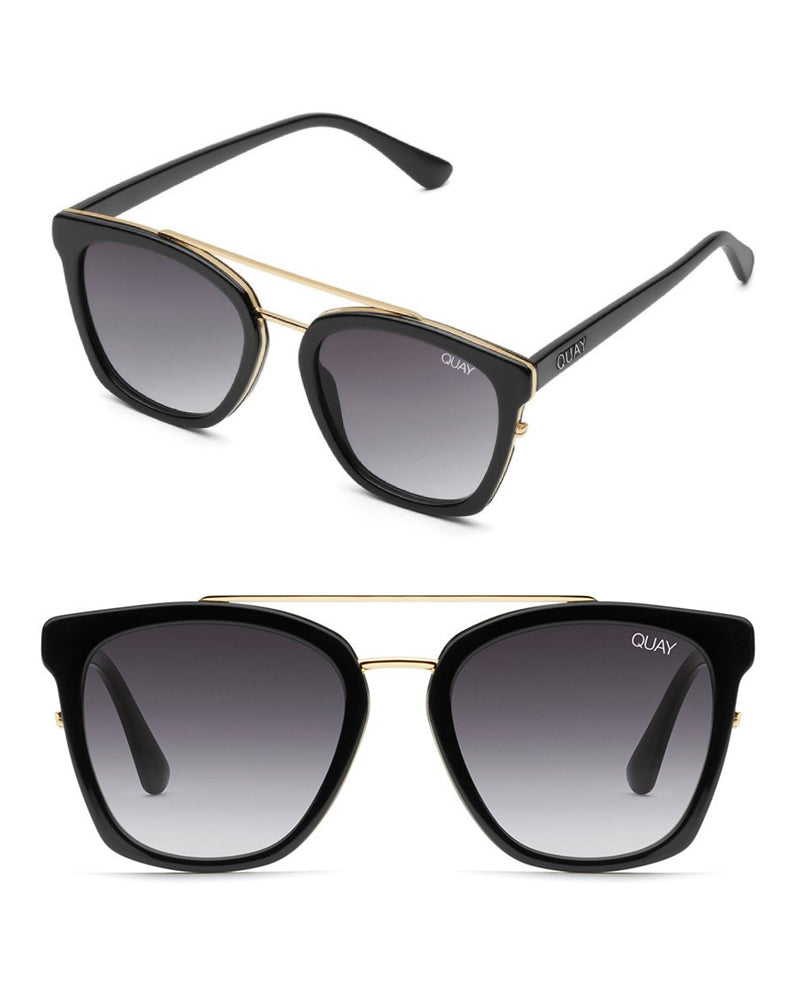 Quay Australia Women's Sweet Dreams Classic Square Sunglasses in Black/Smoke