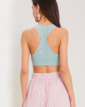 Racerback All Over Scalloped Lace Bralette in More Colors