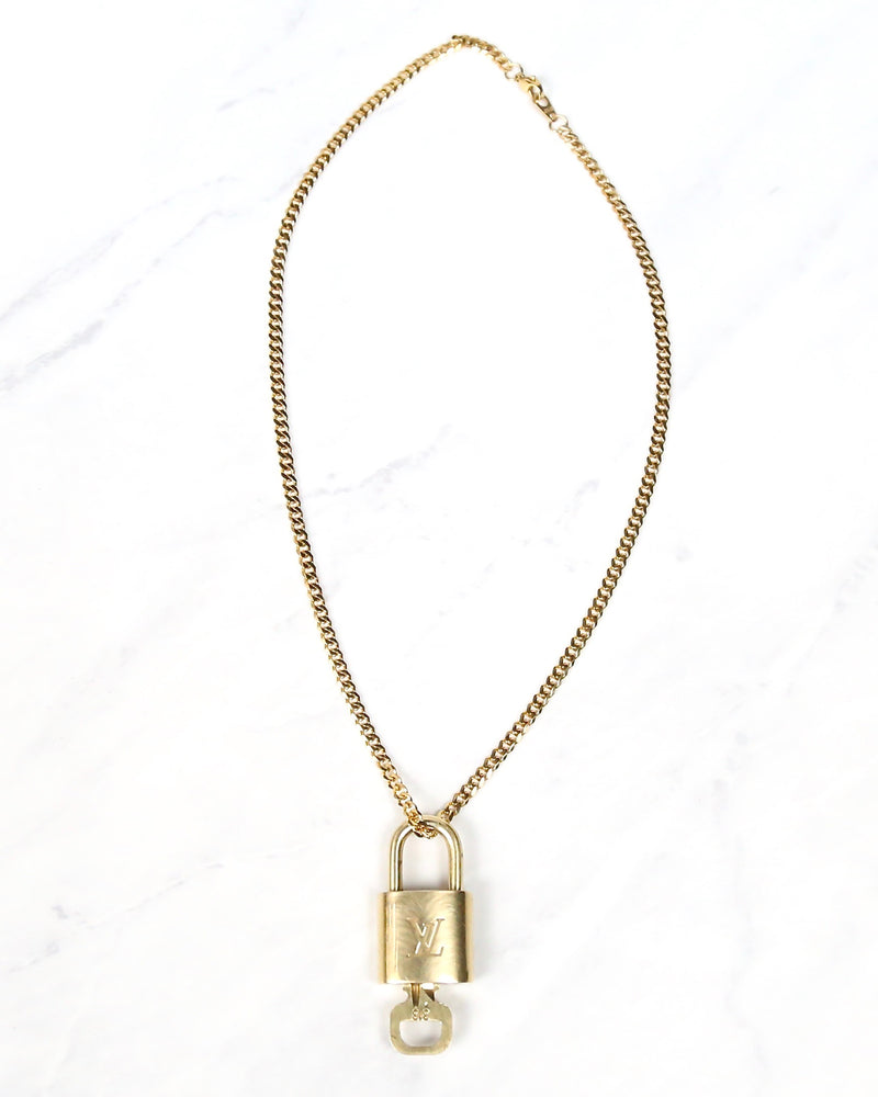 Repurposed LV Lock Necklace