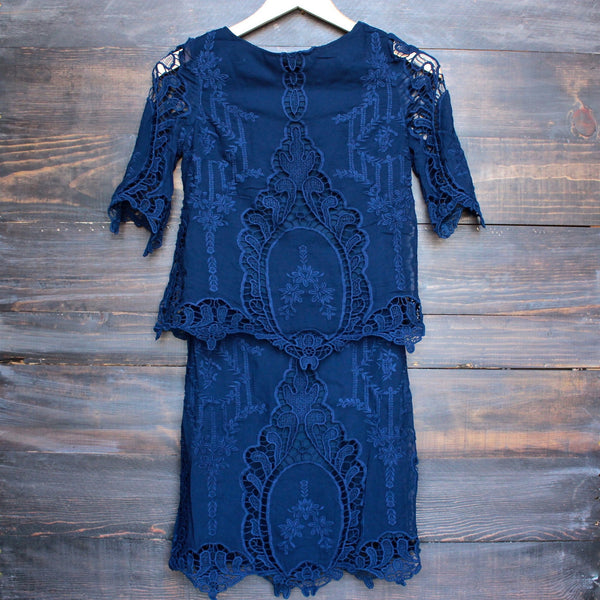 cara backless vintage inspired navy dress by SAYLOR - shophearts - 1