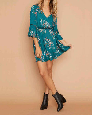 minkpink - secret garden wrap dress - multi
