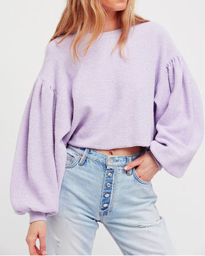 Free People - Sleeves Like These Pullover in Lilac