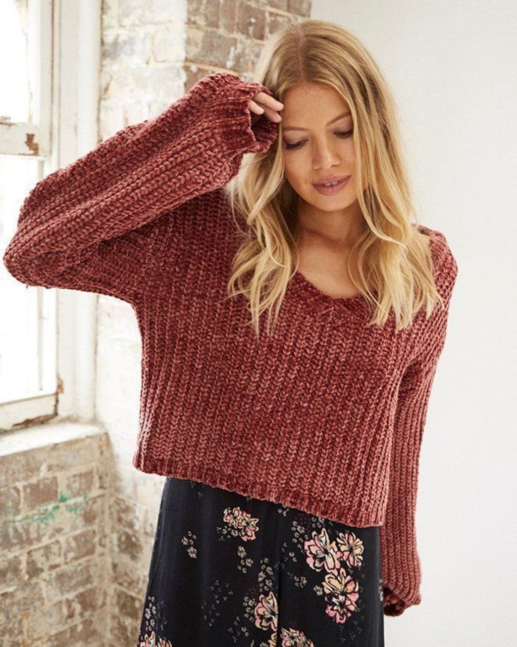 Final Sale - Somedays Lovin - Sweet Skies Chenille Jumper in Apricot