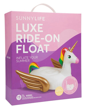 sunnylife - luxe ride-on adult float - unicorn
