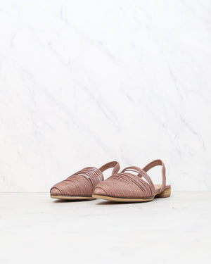 Miracle Miles - Sydney Strappy Slingback Slides in Dusty Rose
