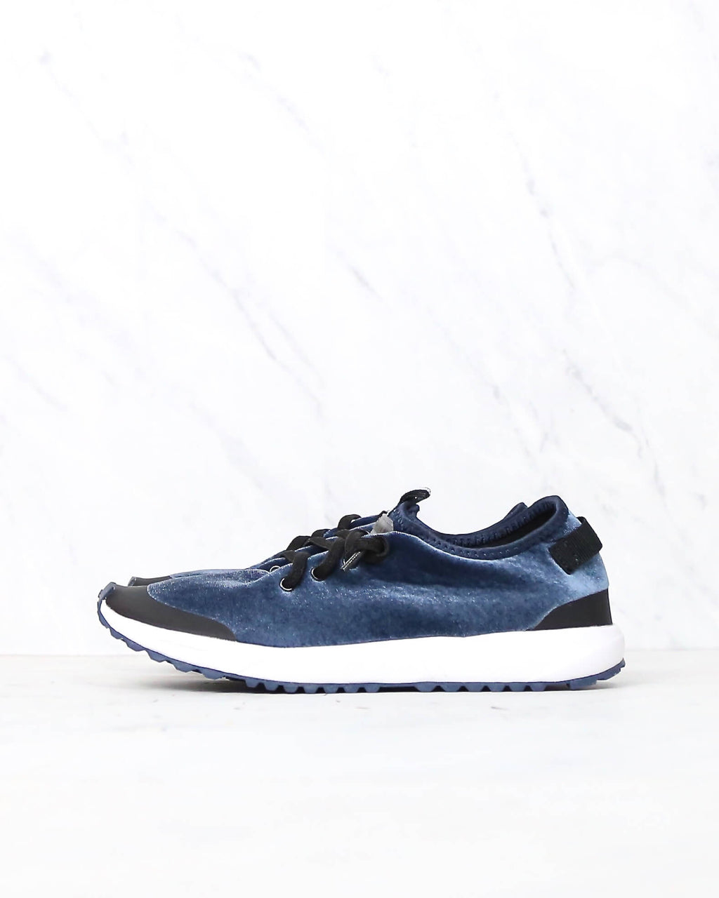 Coolway - Tahali Fit Women's Velvet Blue Sneakers
