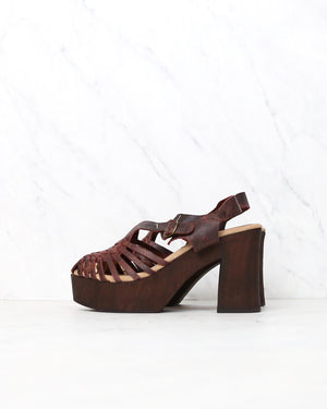 Sbicca - Women's Ultana Rust Leather Sandal With Heels