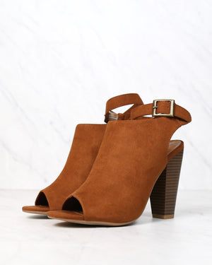 Vegan Suede Wrap Around Ankle Peep Toe Booties in More Colors