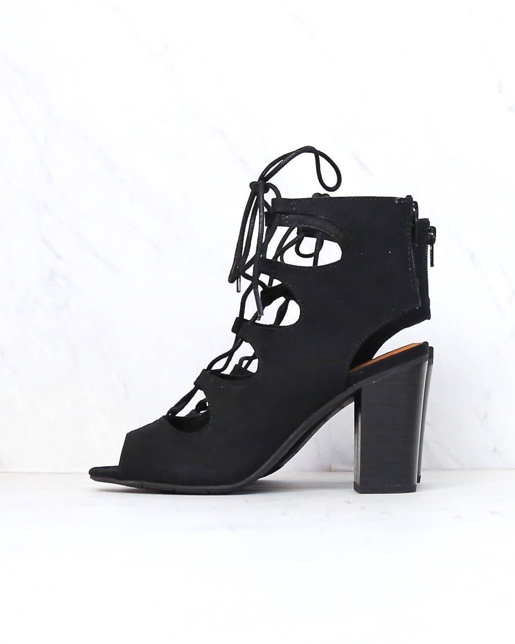 BC Footwear - Vivacious Lace Up Sandals in Black