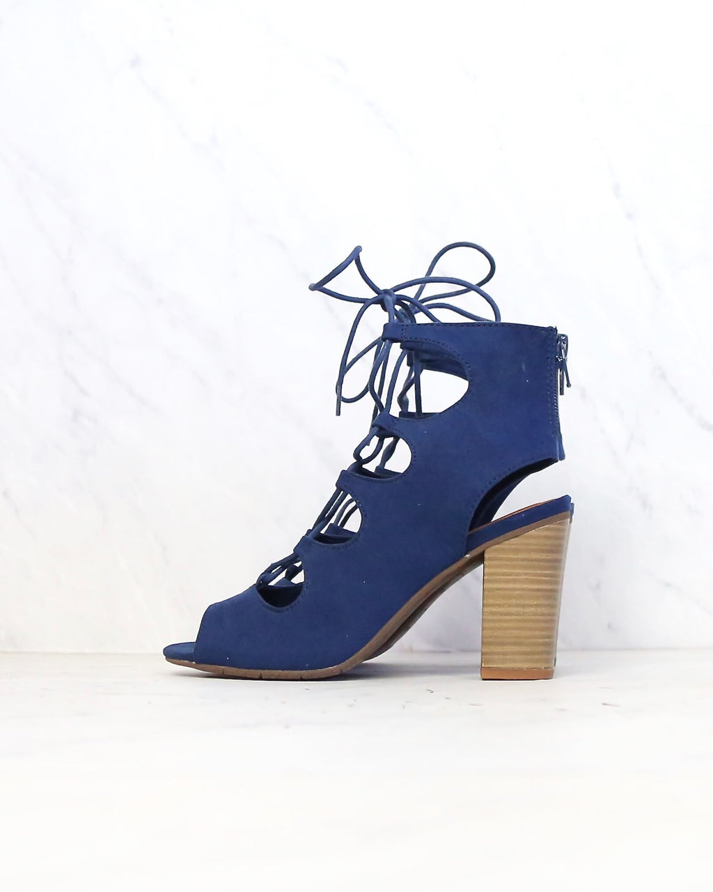 BC Footwear - Vivacious Lace Up Sandals in Indigo