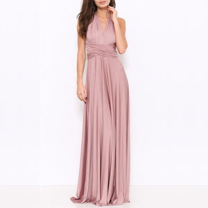 multi wrap maxi dress - brown sugar