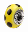 SilveRado Bumble Bee Murano Glass Bead
