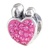 SilveRado Family of 4 Pink Bling Charm