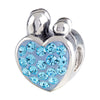SilveRado Family of 4 Blue Bling Charm