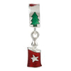 SilveRado Christmas Candle Red Sterling Silver Charm