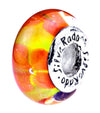 SilveRado Sunburst Flower Murano Glass Bead, Murano Glass Bead, SilveRado