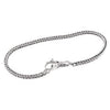 SilveRado 3mm Fox Tail Bracelet - 18cm Sterling Silver Chain with Sterling Silver Clasp, SS Chain with SS Clasp, SilveRado