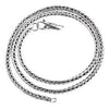 SilveRado 4mm Fox Tail Necklace - 50cm Sterling Silver Chain with Sterling Silver Clasp, SS Chain with SS Clasp, SilveRado